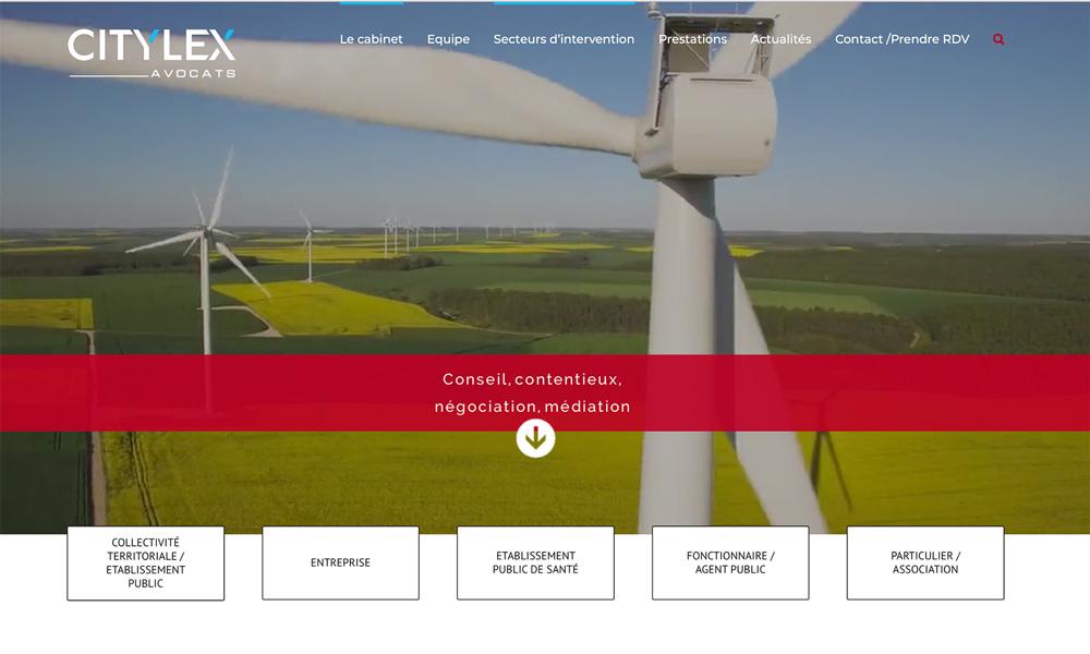 Création de sites Internet pour Citylex avocats