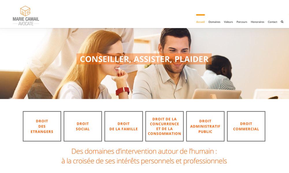Marie-camail avocat création site internet