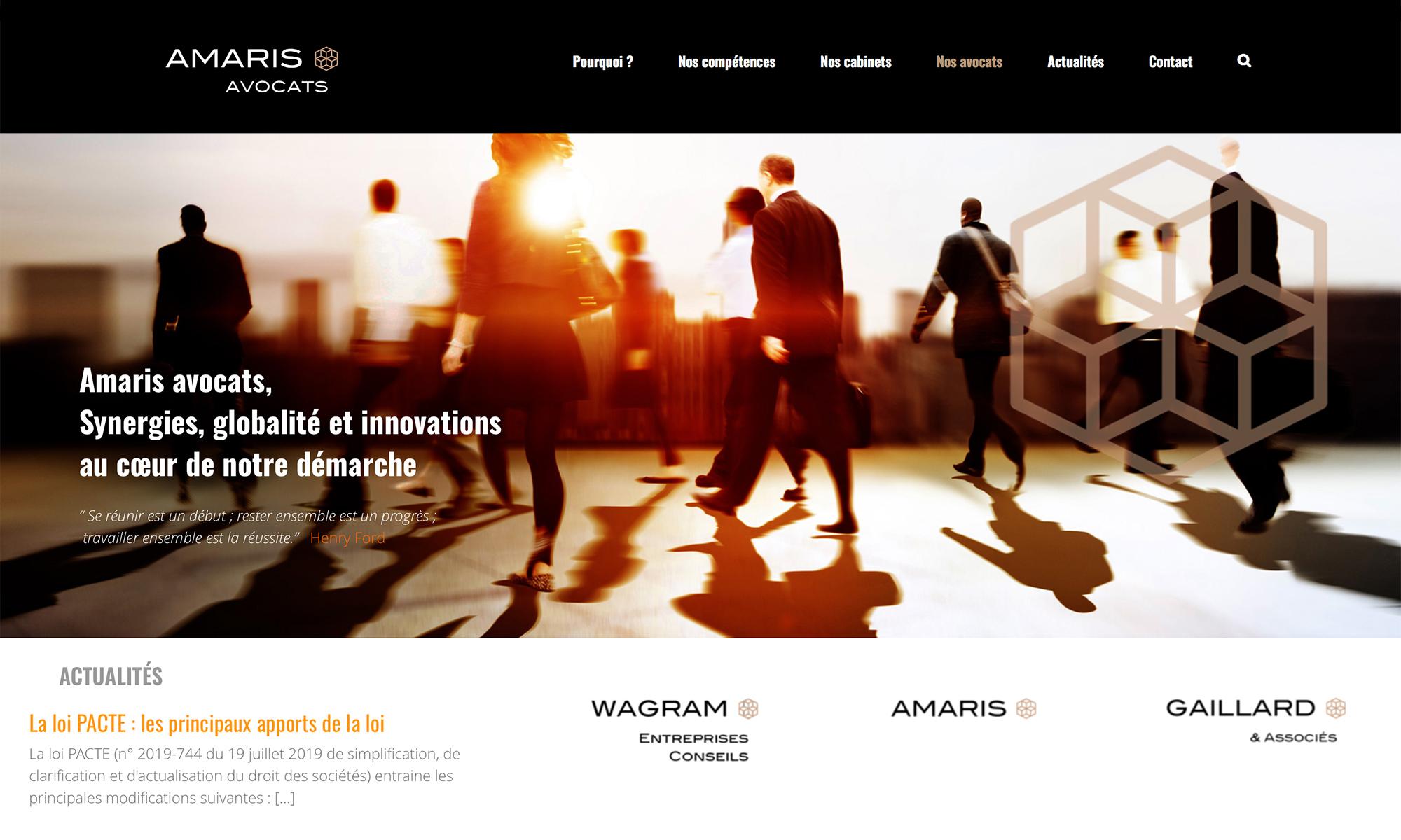 Création du site Internet pour avocats