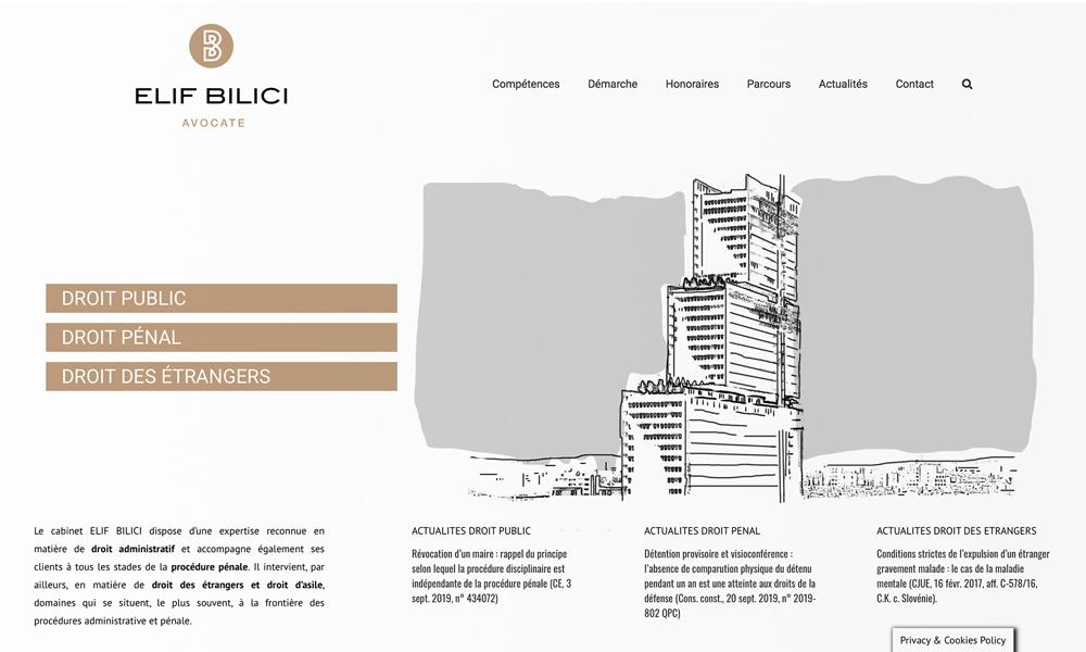 Création site internet avocats Elif Bilici