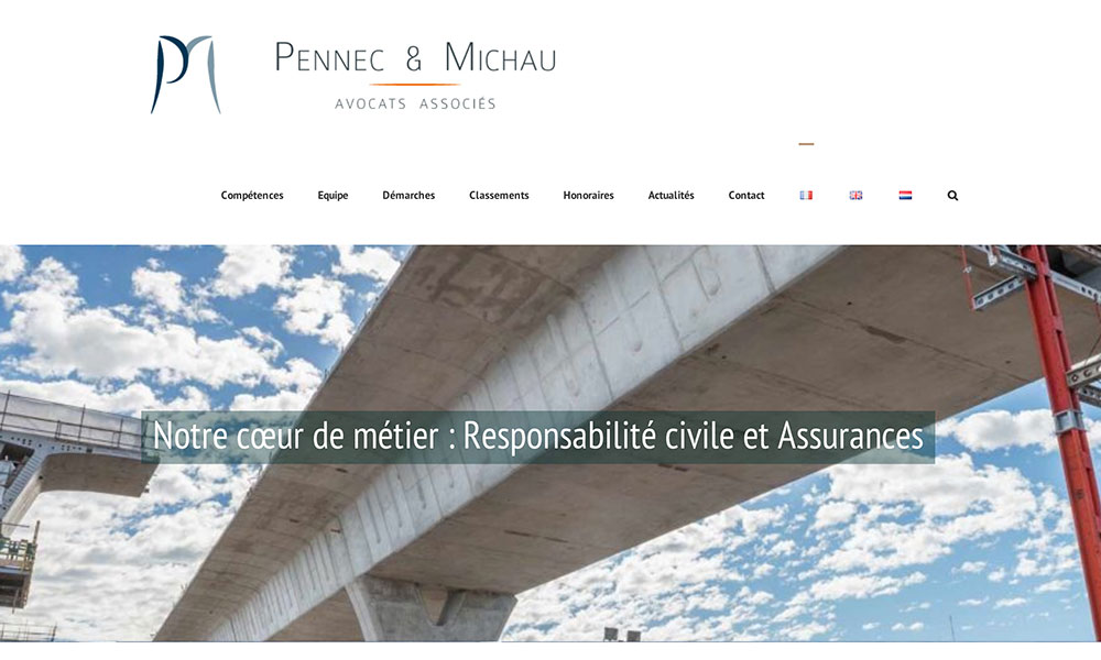Pennec & Michau, site cabinet d'avocats